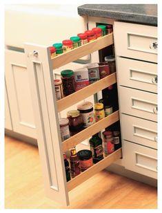 Kitchen Pantry Design, Kitchen Organization Pantry, Kitchen Storage Solutions, Kitchen Cabinet Storage, Modern Kitchen Design, Storage Cabinets, Home Decor Kitchen, Interior Design Kitchen, Smart Kitchen