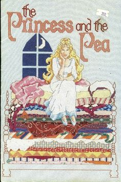 0 point de croix the princess and the pea - cross stitch