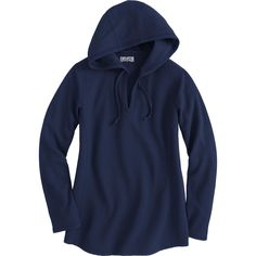 Women's Wicking Longtail T Waffle Hoodie - Duluth Trading