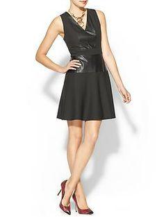 Rhyme Los Angeles Astrid Vegan Leather Dress | Piperlime