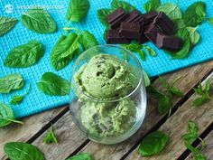 Mint Chocolate Chip Ice-Cream (Keto & Dairy-free) -makes 8 servings: 2 large ripe avocados 2 cups/1 can coconut milk, BPA-free or almond milk 440 ml ½ cup Erythritol, non GMO, powdered, or other healthy low-carb sweetener from this list (80g) 15-20 drops Stevia extract (Clear / Vanilla) 1 tbsp vanilla extract or 1 vanilla bean (~ ½ tsp) ¼ cup fresh mint or more to taste 1 tbsp peppermint extract, PG-free if possible 1 package dark chocolate chips / bar dark 85% chocolate (100g)