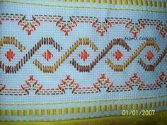 ponto reto - toalhabordado bargello o florentino - Pesquisa Google Swedish Embroidery, Types Of Embroidery, Embroidery Stitches, Hand Embroidery, Small Gifts For Friends, Monks Cloth, Swedish Weaving, Blackwork, Diy And Crafts