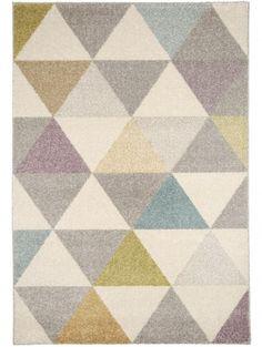 Teppich Pastel Geomet Multicolor