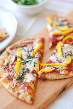 Eat Yourself Skinny!: Whole Wheat Pita Bread Pizza  In case you missed this earlier, these Whole Wheat Pita Bread Pizzas are a must-try! Only 7 WW points for one whole pizza and made entirely with all clean ingredients!
