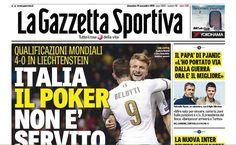 Rassegna stampa sportiva 13 novembre 2016 con le prime pagine dei quotidiani sportivi italiani. Gazzetta dello Sport, Corriere dello sport e Tuttosport