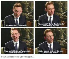If Tom Hiddleston was Loki's Therapist...