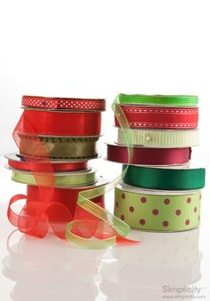 Holiday inspired ribbon by #Simplicity - perfect for decorating and gift wrapping!