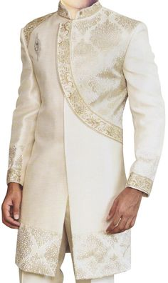 INMONARCH Mens Fashionable Cream Indo Western IN422 at Amazon Men's Clothing store: