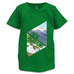 NZ Children's T-Shirt - New Zealand Explorer Gray Background, Kiwi, New Zealand, Cool Designs, Stitch, Prints, Cotton, Mens Tops, T Shirt