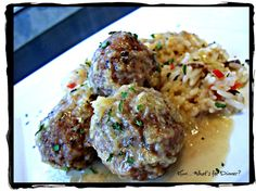 Hun... What's for Dinner?: Uncle Gary's Pepper Jelly Turkey Meatballs with Confetti Rice