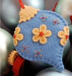 Christmas decorations will create a fairy tale atmosphere in your home. This felt Christmas ornament can be used as a Christmas tree ornament Handmade Christmas Decorations, Felt Decorations, Christmas Ornaments To Make, Christmas Sewing, Noel Christmas, Christmas Projects, Felt Crafts, Christmas Crafts, Homemade Christmas