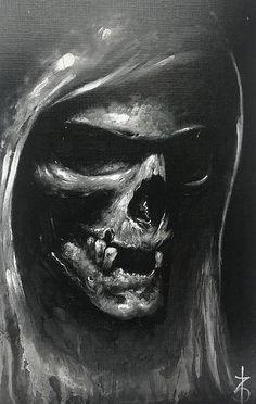 Tu oder stirb - Skull Tattoo - Garden Planting - Home DIY Cheap - Blonde Hair Styles - DIY Jewelry Vintage Evil Skull Tattoo, Skull Tattoo Design, Skull Tattoos, Skull Design, Grim Reaper Art, Grim Reaper Tattoo, Dark Fantasy Art, Dark Art, Mad Hatter Tattoo