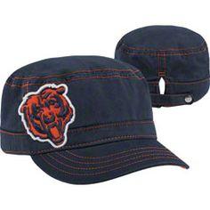 HOT ITEM: Chicago Bears Women's New Era Military Chic Cadet Hat  http://www.fansedge.com/Chicago-Bears-Womens-New-Era-Military-Chic-Cadet-Hat-_66258530_PD.html?social=pinterest_pfid22-46414