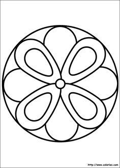 Coloriage mandala fleur