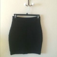 Express Dresses & Skirts - Black pencil skirt with horizontal ridges