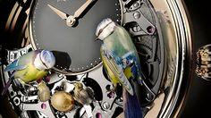 Jaquet Droz The Bird Repeater Watch + Video Watch Releases Bracelet Nato, Bracelet Cuir, Fine Watches, Watches For Men, Small Boy, Mechanical Watch, Watch Video, Bird Art, Art History