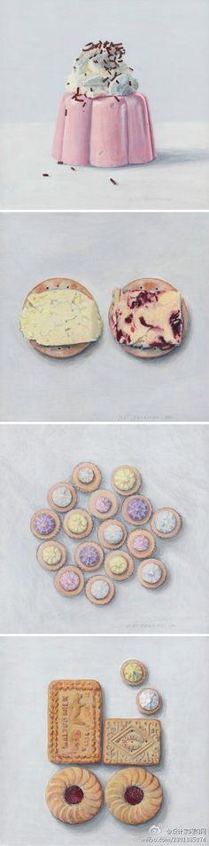 # # New Zealand designer Joel Penkman painted the hand-painted food. via.www.joelpenkman.com