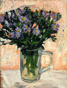 Evy Låås - Flowers in a Glass Vase