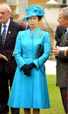 Princess Anne, The Princess Royal attends the Not Forgotten Association Garden Party for injured ex servicemen and women, in the Buckingham Palace Garden on 2 July 2013 in London, England