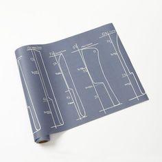 "Fun Design! Kitchen Knives - 20"" Cake Paper Runner"