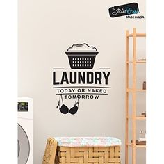 Laundry Room Help Wanted Apply Within Wash Dry Fold Repeat Door Decal Sticker for Walls or Glass (white)