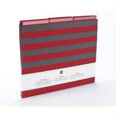Striped File Folder Letter size - 64104 - for organizing stories