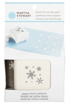 Martha Stewart Crafts - Punch All Over the Page - Craft Punch - Pattern Aspen Flurry