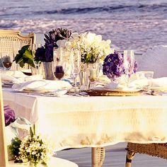 purple - table setting