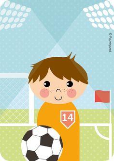 Papiergoed Uitnodigingen kinderfeestje Voetballer