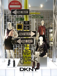 SP13 ✯LONDON✯ #VisualMerchandising #DKNY repinned via retailstorewindows.com