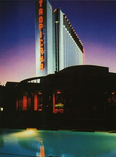 Tropicana Hotel. Las Vegas, c.1987 Las Vegas Trip, Las Vegas Hotels, Las Vegas Nevada, Tropicana Hotel, Tropicana Las Vegas, Golden Gate Bridge, Europe, America, Travel