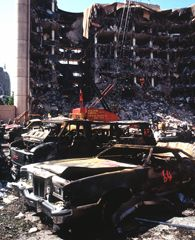On April 19, 1995, a truck bomb exploded outside the Alfred P. Murrah Federal Building in Oklahoma City, killing 168 people and injuring 500.