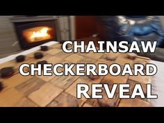 Chainsaw Checkerboard Build (Part 2 Finale) Turning Firewood into a CheckerBoard - YouTube