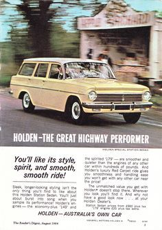 Australian Vintage, Australian Cars, Australian Homes, Caravan, Holden Australia, Aussie Muscle Cars, Car Brochure, Peter The Great, Sports Sedan