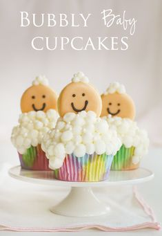 Bubbly Baby Cupcakes! | Baby Shower Cupcake by @iambaker