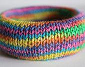 Handknit bracelet from Supermarno Studio via Etsy.com