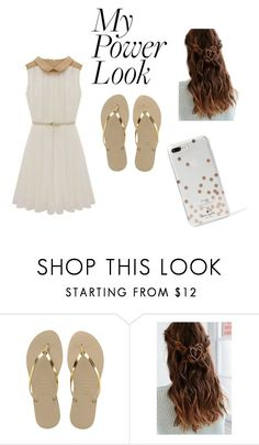 """""""My power look"""" by maja-zmeskalova on Polyvore featuring Havaianas, Urban Outfitters and Kate Spade"""