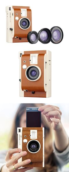 Bet you thought instant cameras were a thing of the past, but guess what—they've made a full-fledged comeback. The Insta-Magic Camera sports a vintage-inspired look, plus the instant peel-away photos a... Find the Insta-Magic Camera, as seen in the Gifts for Her Collection at http://dotandbo.com/collections/holiday-gift-guide-gifts-for-her?utm_source=pinterest&utm_medium=organic&db_sku=113083