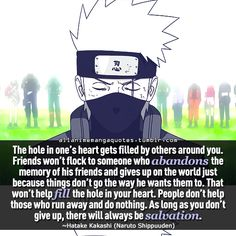 """""""The hole in one's heart gets filled by others around you. Friends won't flock…"""