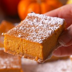Pumpkin Dream Bars – The Best Arabic sweets and desserts recipes,tips and images Pumpkin Recipes, Fall Recipes, Sweet Recipes, Holiday Recipes, Pumpkin Bars, Pumpkin Dessert, Baking Recipes, Cookie Recipes, Dessert Recipes