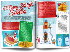 Santa spread children science magazine for kids
