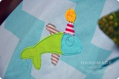 """""""Bathing Fish"""" from the """"Bathing Guys Pack"""" at www.AnjaRiegerDesign.com here: http://www.anjariegerdesign.com/embroidery-designs/ahoi.html #embroidery #DIY # embroidery designs #crafts #AnjaRieger #bathingguys"""