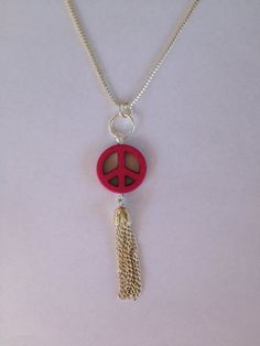 Peace necklace by Cre8iveCraft on Etsy, $5.00