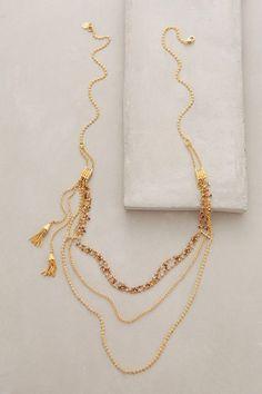 Miranda Layered Necklace by Gas Bijoux Tassel Jewelry, Jewelry Box, Jewelery, Jewelry Accessories, Women Jewelry, Fashion Jewelry, Jewelry Design, Gold Jewellery, Jewelry Bracelets