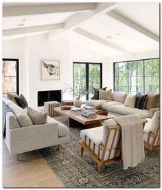 Family room design – Home Decor Interior Designs Home Living Room, Interior Design Living Room, Living Room Designs, Living Room Decor, Living Spaces, Modern Living Rooms, Small Living, Lounge Room Designs, Casual Coastal Living Room