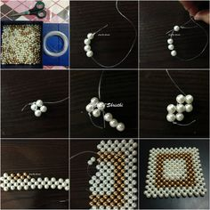 Beaded Purses, Beaded Bags, Seed Bead Patterns, Beading Patterns, Beaded Jewelry Designs, Handmade Jewelry, Beaded Banners, Diy Bags Purses, Beading Tutorials