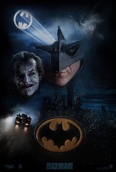 'Batman' (1989) movie poster concept art by Paul Shipper -- #JackNicholson #MichaelKeaton #MusicByPrince