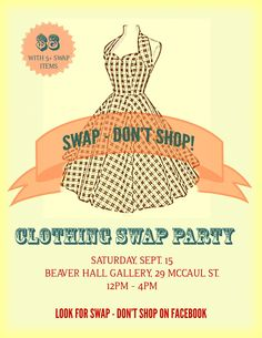 My clothing swap party was SO fun this year. I am totally going to do it again but want to give the girls a lot of notice so they don't throw items away that they could swap. Clothing Exchange, Clothing Swap, I Party, Party Time, Party Rules, Party Ideas, Event Ideas, Clothes Swap Party, Swap Shop
