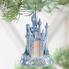 Disney Classic Cinderella Castle Ornament -- Item No. Disney Christmas Ornaments, Christmas Tree, Disney Cinderella Castle, After Christmas, Miniature Christmas, Clay Creations, Winter Holidays, Cathedral, Holiday Decor