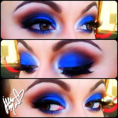 Royal Blue Eyeshadow, Makeup by Jillian Mac (IG JillianMac)